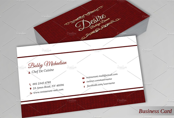 Restaurant Menu & Business Card Design Templates