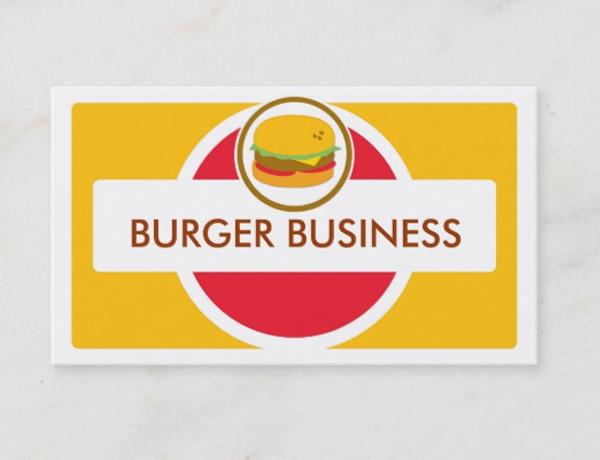 Retro Bright Burger Business Cards