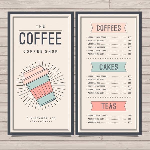 Retro Cafe Menu Free Template