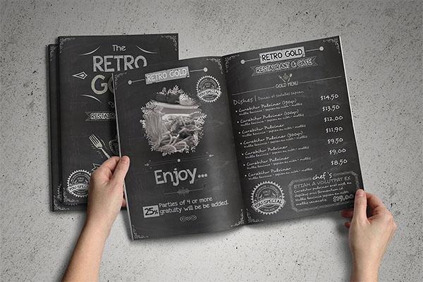 Retro Cafe & Restaurant Menu Pack