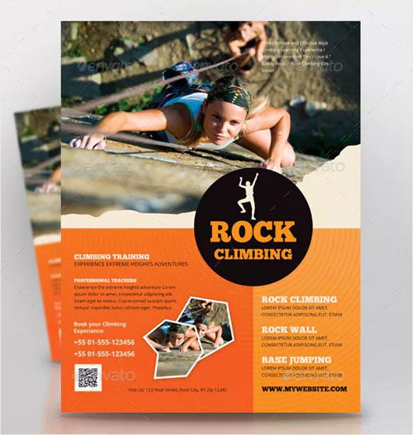 Rock Climbing Sports Flyer