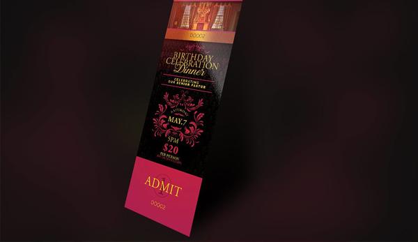 Royal Celebration Dinner Ticket