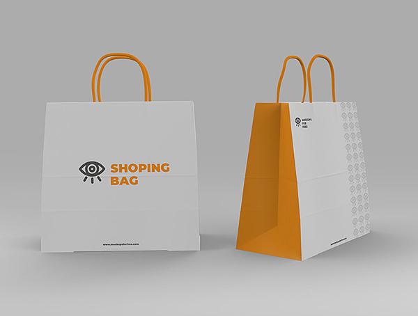 Shopping Bags Free PSD Mockup