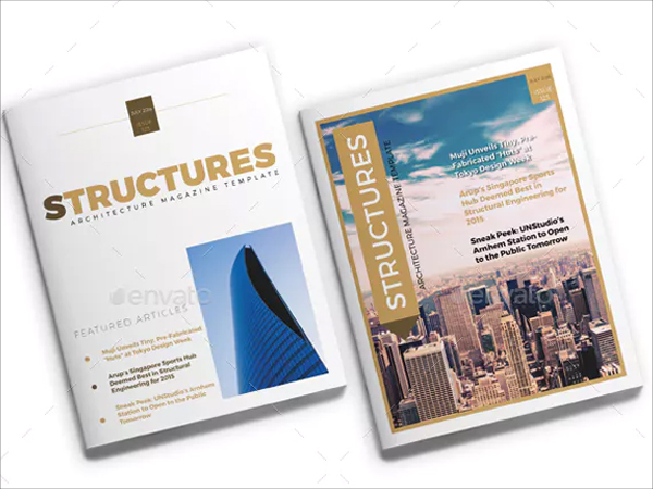 Simple Architecture Magazine InDesign Template
