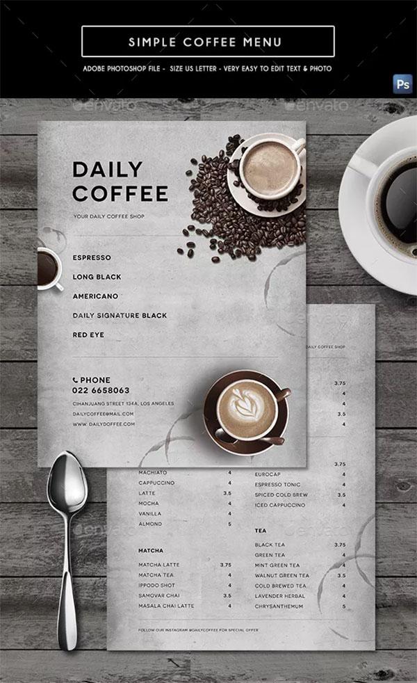 Simple Coffee Menu Template