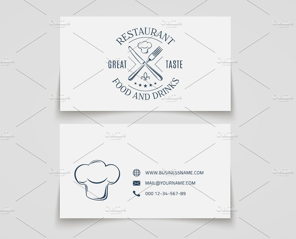 Simple Fast Food Restaurant Business Card Template