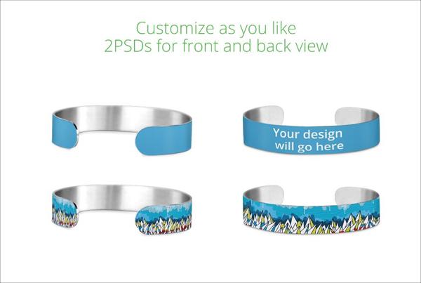 Small Wristband Design Mockup