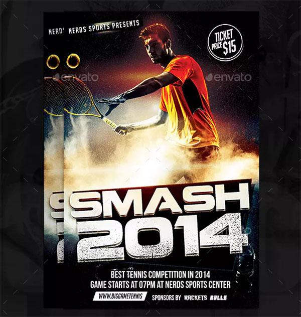 Smash Tennis Sport Flyer