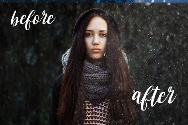 Snow & Dust Photoshop Effect