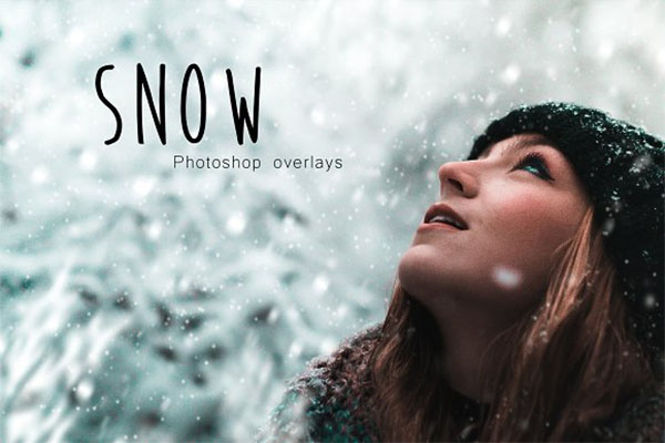 Snow Photoshop Overlay Template