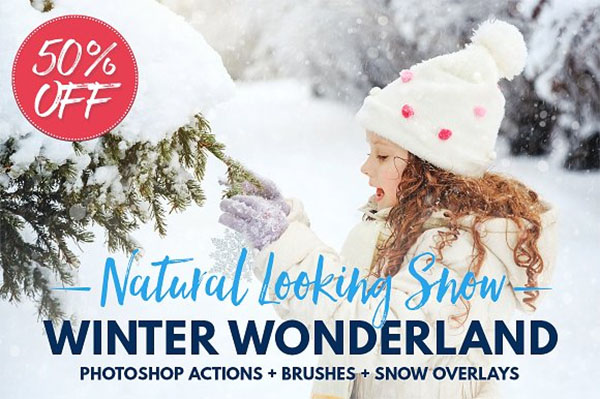 Snow Photoshop actions overlay Brush