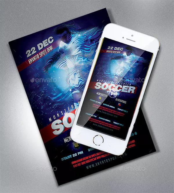 Soccer PSD Sport Flyer Template