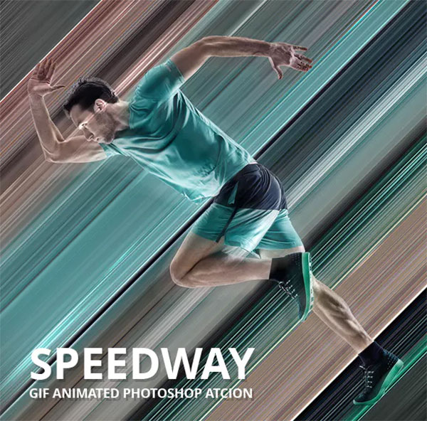 Speedway Gif Animated Photoshop Action