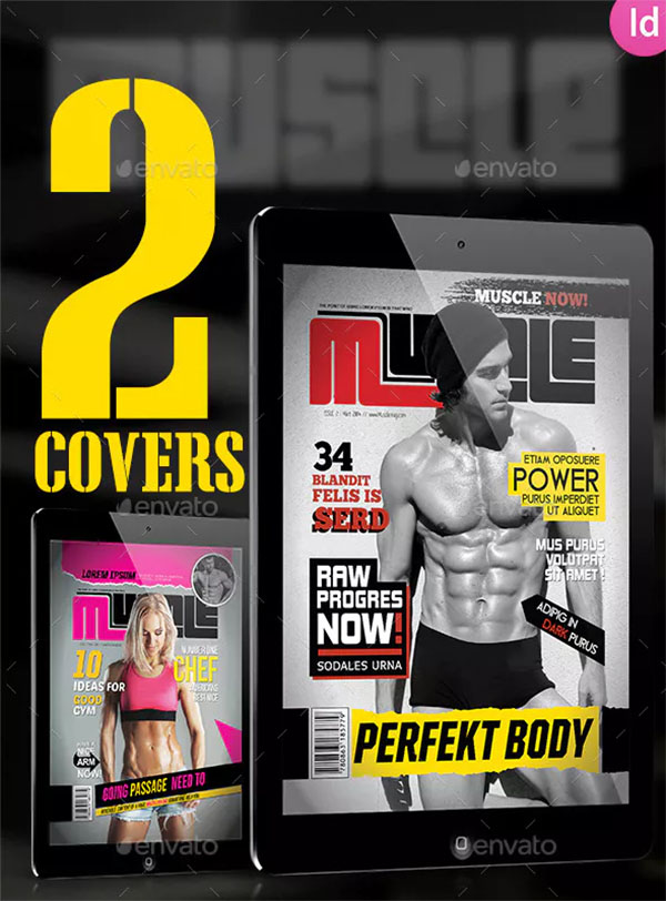 Sport & Fitness Magazine Covers Tablet