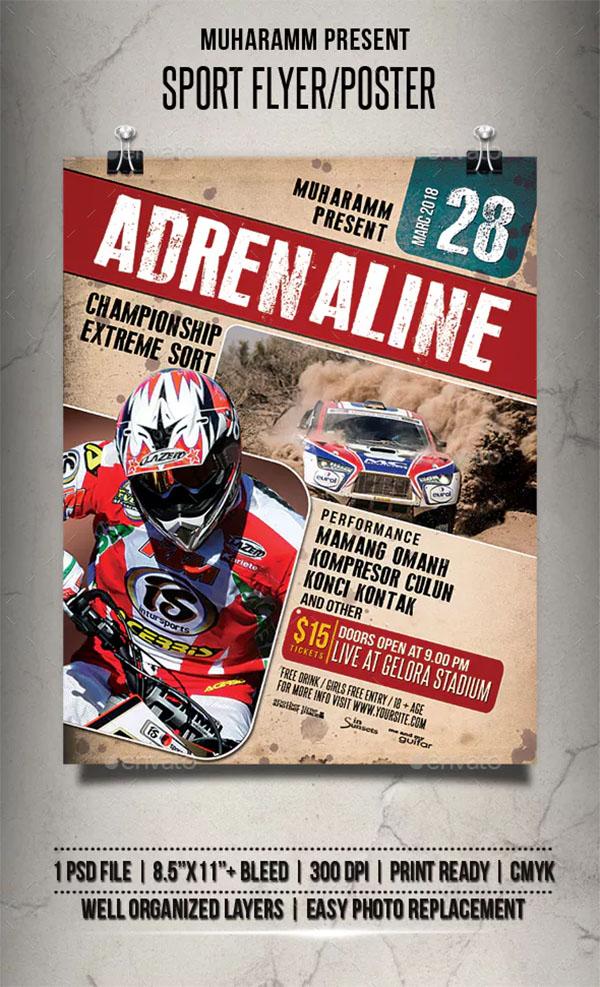 Sport Flyer & Poster PSD Template