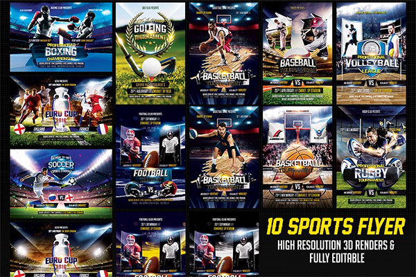 Sports Flyer Bundle