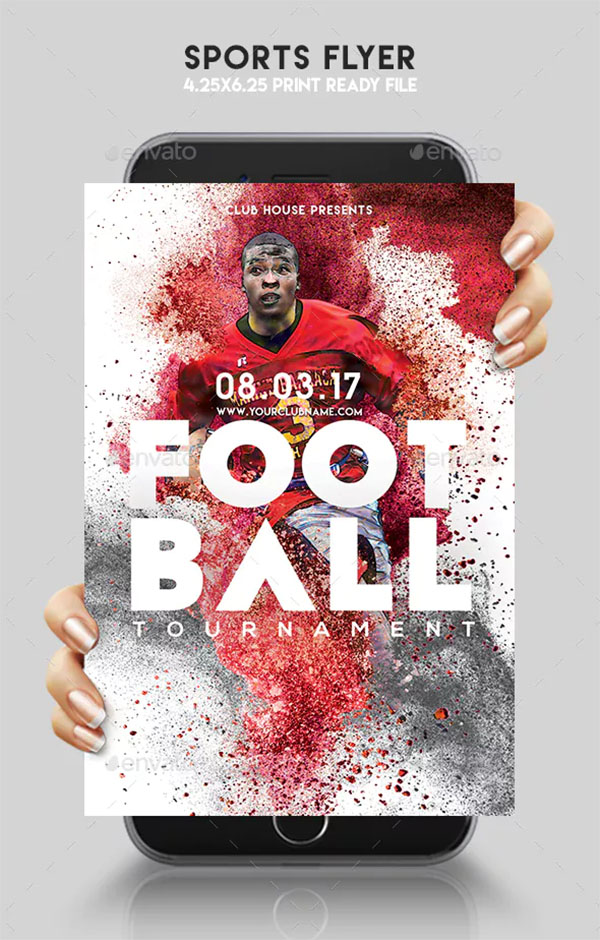 Sports Flyer Template Design