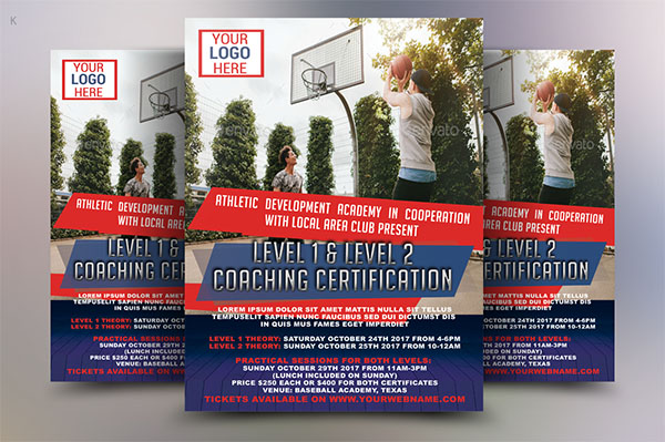 Sports Flyer Template PSD Deign