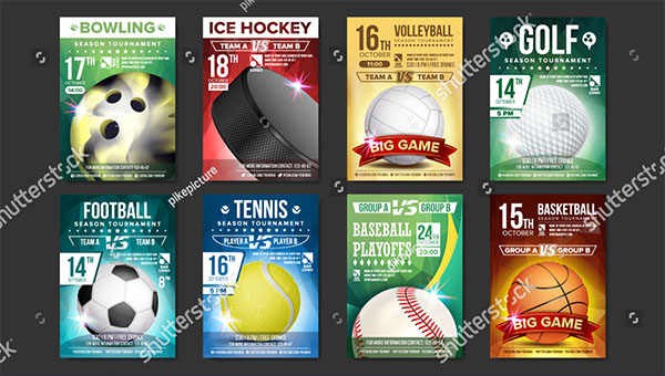 Vector Sports Flyer Templates