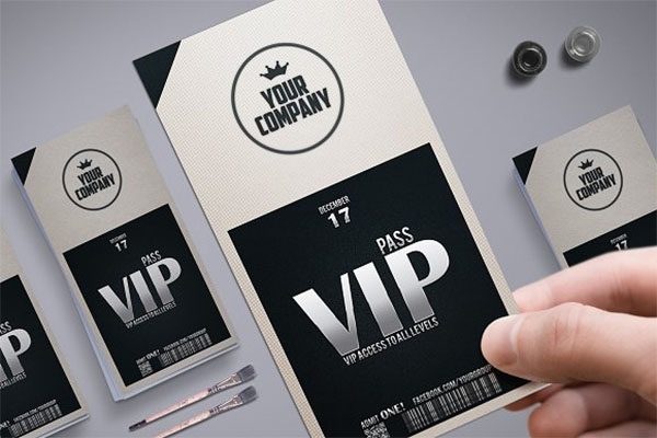 Stylish Simple VIP Pass Template