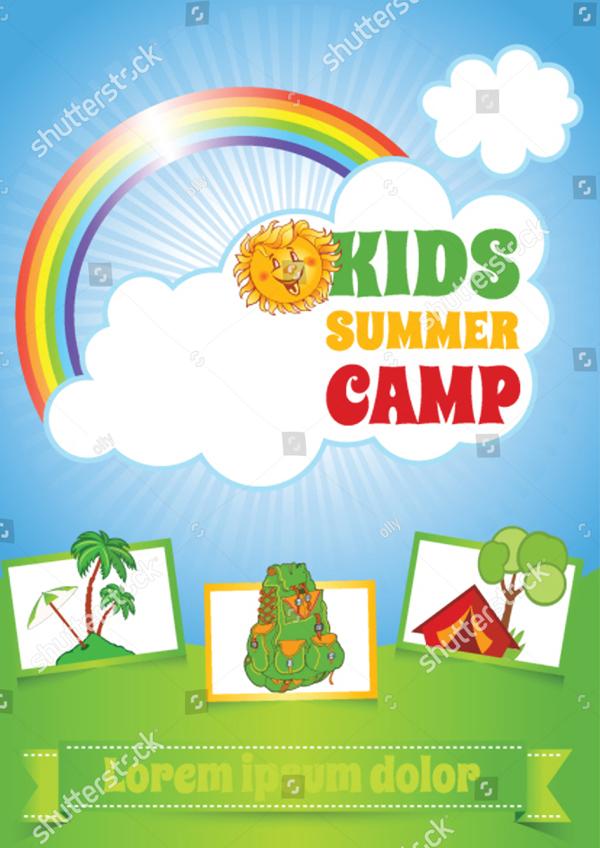 Summer Kid Camp Flyer Template