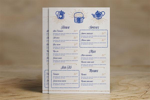 Tea House Menu Pack