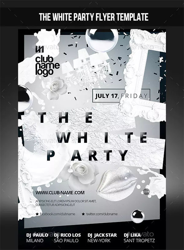 The White Party Flyer Template