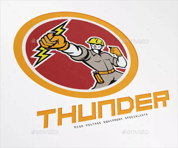 Thunder High Voltage Electrical Logo