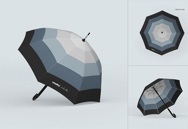 Umbrella Mockup Set Free Download