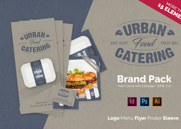 Urban Fast Food Catering Business Card Template