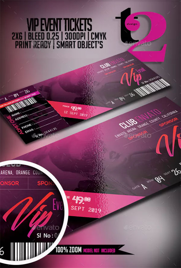 VIP Event Tickets Templates