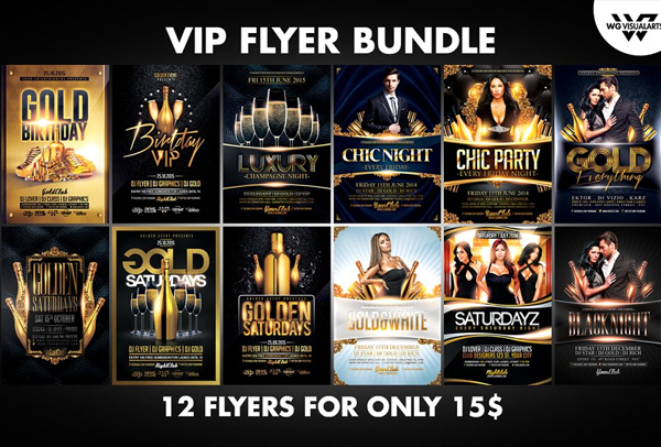 VIP Flyer Bundle Templates