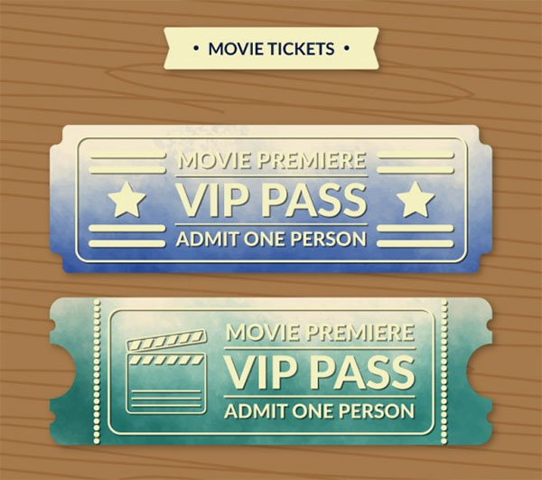 VIP Pass Tickets Free Template