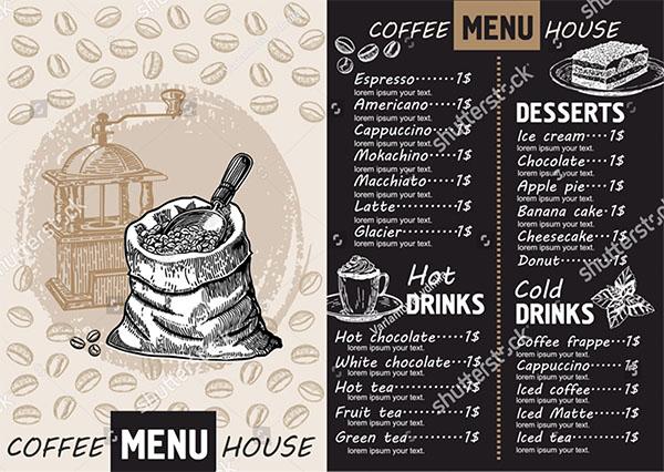 Vector Cafe Menu Template