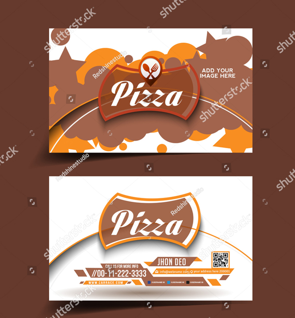 Vector Pizza Store Business Card Template