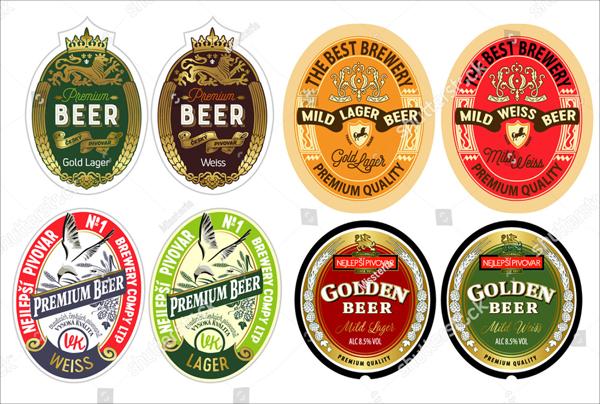 Vector Set of Beer Label Templates