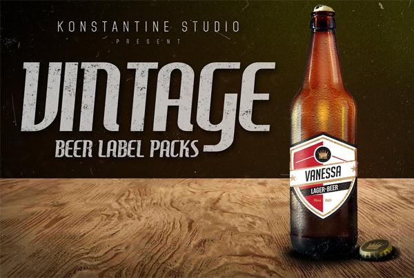 Vintage Beer Labels Pack