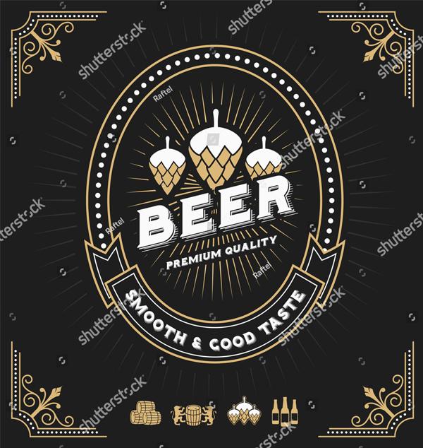 Vintage Frame Design for Beer Labels