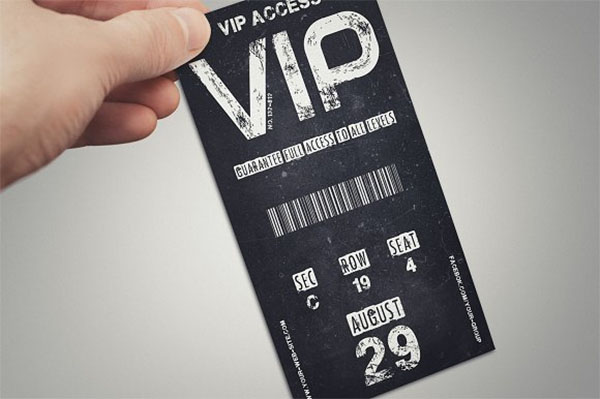 Vintage VIP Pass Card Template