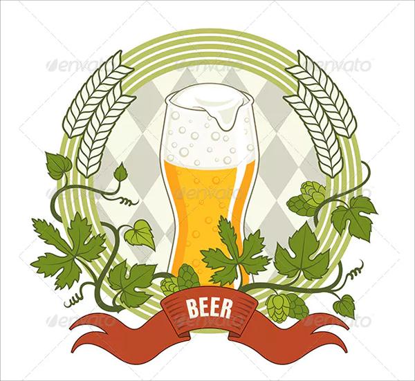 Vintage Vector Illustration Beer Label