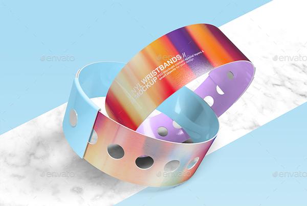 Fabric Wristbands Mockup