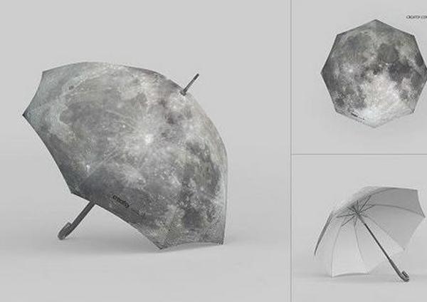 Watercolor Free Download Umbrella Mockup Set