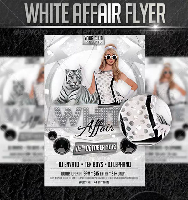 White Affair Party PSD Flyer Template