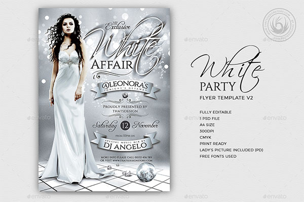 White Classy Party Flyer Template