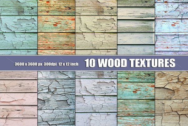 White Distressed Wood Textures