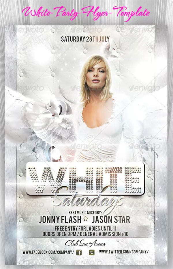 White PSD Party Flyer Template