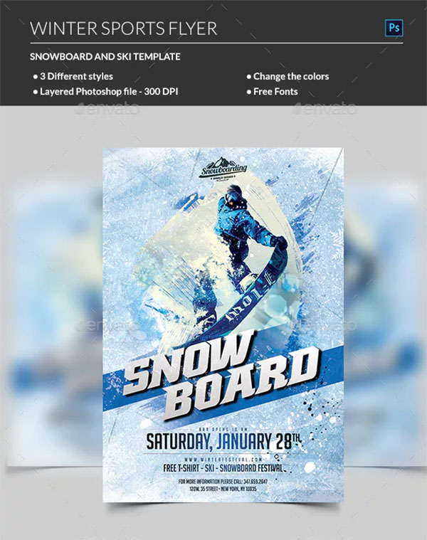 Winter PSD Sport Flyer