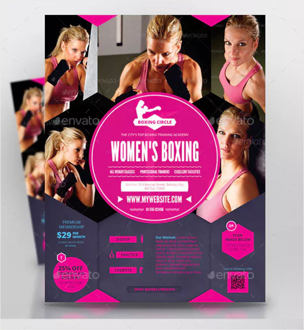Women's Boxing Sports Flyer