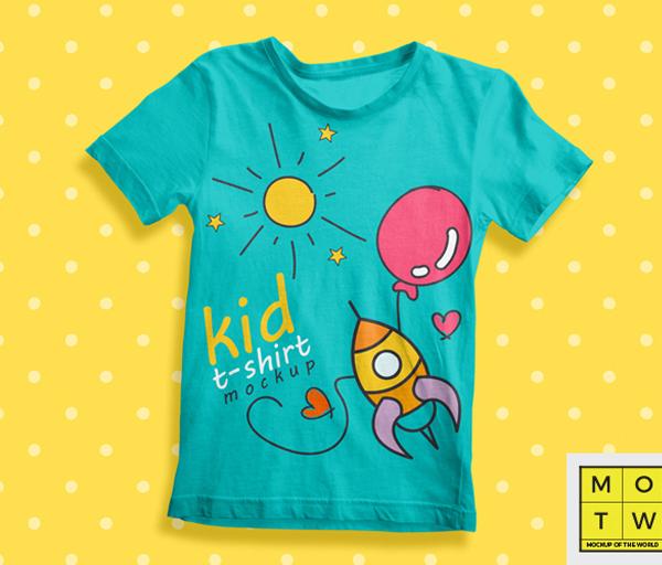 10 Free Kids T-Shirt Mockups