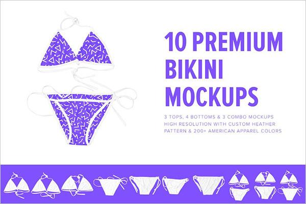 10 Premium Swim Bikini Mockups